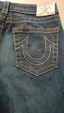 Women's True Religion Capri Jeans Size 30 Blue