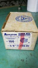 "Appleton 3/8"" Romex Box Connectors - Box of 100"