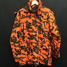 Mens Medium WINCHESTER Orange Camo Parka Hood Cleveland Browns Muni Lot  /h