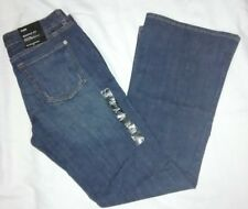 BANANA REPUBLIC WOMENS 8R 29 DARK BLUE JEANS BOOTCUT SITS AT WAIST DENIM PANTS