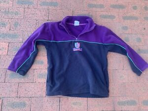 Vintage Fremantle Dockers Fleece 1/3 Zip Jumper 90s Pullover AFL