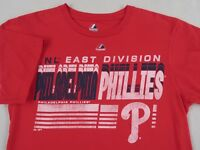 MLB Philadelphia Phillies Men's S/S Crew Neck Red T Shirt by Majestic - Medium