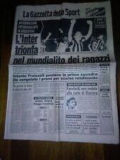 LA GAZZETTA DELLO SPORT 5 FEBBRAIO 1981 INTER FACCHETTI