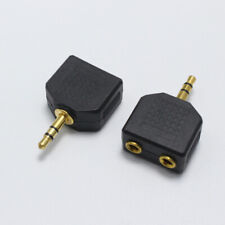 1 Male To 2 Female Gold Plated 3.5mm Y Splitter Headphone Adapter Stereo Audio