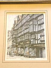 VINTAGE PHILIP MARTIN PRINT ~HIGH HOLBORN - LONDON~ 37/850 12 x 9 FRAMED SIGNED