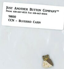 JABC button for Country Cottage Needlework's design - Bluebird Cabin