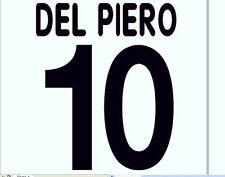 2000-2001 Juventus Del Piero Home Football Name set for National shirt