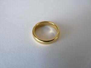 BEAUTIFUL TIFFANY 18CT GOLD WEDDING RING BAND  L 1/2  6.5 GRAMS