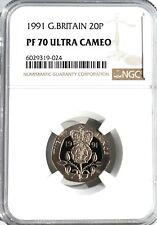 More details for 1991 20p twenty pence ngc pf70 great britain royal mint top pop
