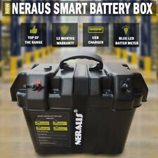 NEW Neraus Smart Battery Box Powerpack AGM Deep Cycle Up To 130 AH Charger Kit