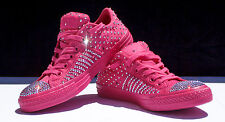 Custom Pink All Star Converse with Genuine Rose AB Swarovski Crystals Size 8
