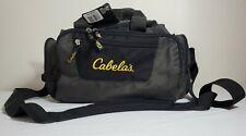 "Cabellas Catch All Gear Duffle Bag Grey Black 14""x9"" 6 pockets Hunting Fishing"