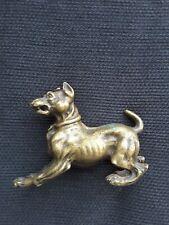 Sculpture Chien en bronze ancien dogue