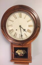 """Antique Wall Clock made by the Welch & Spring Co. 17""""x 27"""""""