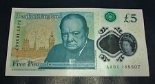 🏦New Bank of England : £5.00 note : AA01🎫185507