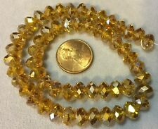 "16"" Strand LIGHT COLORADO TOPAZ  FACETTED 5mmx8mm  Machine Cut Crystal Rondelles"