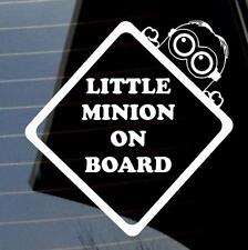 COOL BABY LITTLE MINION A BORDO AUTO FURGONE VETROFANIA molti colori VW JDM