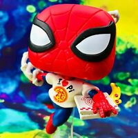 Spider-Man with Pizza Box Lunch Exclusive Marvel Funko POP! #672 *Loose Figure*