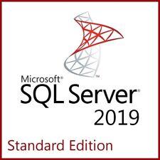 Microsoft SQL Server 2019 Standard Edition - Full 8 Core License, Unlimited CALs