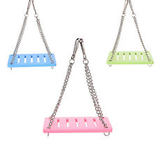 Pet Hamster Mouse Wood Swing Hammock Play Toys Small Animal Cage Hanging Seesaw