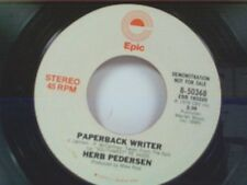"HERB PEDERSEN ""PAPERBACK WRITER / MONO"" 45 PROMO  BEATLES SONG"