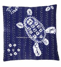 "Indian Cushion Cover Shibori Hand Tie Dye Kantha Pillow 16"" Throw Pillow Cover"