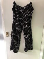 """Trousers Size UK 14. Eu 42. Ladies, Black White & Red Hearts. L32"""".By Atmosphere"""