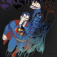 Andy Warhol Superman Poster Reproduction Paintings Giclee Canvas Print