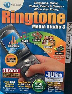 Avanquest Ringtone Media Studio version 3 Retail Box  Create Free Ringtones NIB