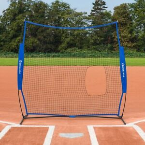FORTRESS Baseball Softball 7ft x 7ft Pitching Screen | Portable Practice Net