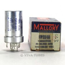 Nos Nib Mallory 40-40-200 uF 150-150-25 Vdc Electrolytic Can Capacitor