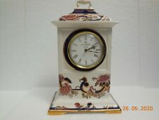 "Mason's Finest English Earthenware ~ 10"" Blue Mandalay Mantle Clock."