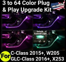 ⭐Mercedes-Benz GLC/C Sedan From 3 to 64 Color Upgrade Kit Ambient light FOOTWELL