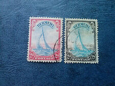 "1938 Bermuda Stamp Sc #109, 109a  2d KGVI Pictorial Yacht ""Lucie"", vf used"