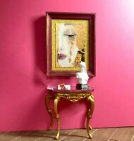 1:12 Dollhouse miniature Victorian gold console table