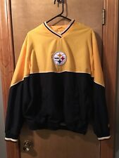 Pittsburgh Steelers super Soft feeling  Lined V Neck Pullover T-shirt lined