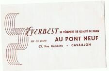 ancien buvard publicitaire vêtements au pont neuf Cavaillon Vaucluse
