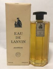 Vintage RARE Lanvin Arpege 4 oz 110 ml OCTAGON CRYSTAL Eau de Parfum Boxed