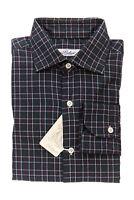 BELVEST by Finamore Napoli Shirt Cotton Twill Plaids & Checks 15 1/2 - 39 Reg