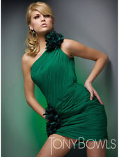 Tony Bowls 21031 Green Size 6 Evening Dress-Military Ball-Prom