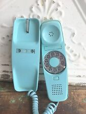 Vintage Bell System Western Electric Trimline Telephone Hardwired baby blue dial
