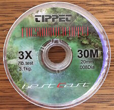 Fly Fishing Tippet Material 3X 7lb 30m Delta Ultraclear Best Cast Tippet