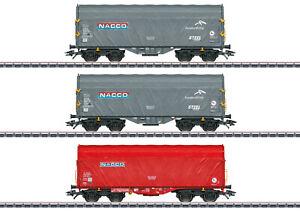 "Märklin 47224 Schiebeplanenwagen-Set  ""Nacco"" 3-teilig#NEU in OVP#"