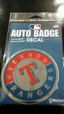 "TEXAS RANGERS AUTO BADGE CAR DECAL EMBLEM 4""X4"" NEW ITEM! FREE SHIPPING!"
