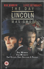 THE DAY LINCOLN WAS SHOT VHS VIDEO PAL UK FORMAT BIG BOX ROB MORROW TV MOVIE