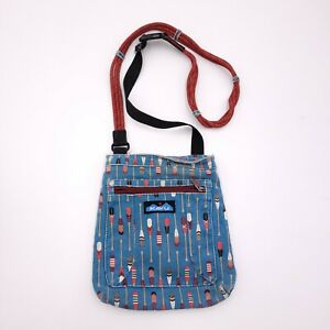 KAVU Blue And Red Crossbody Purse Rope Strap