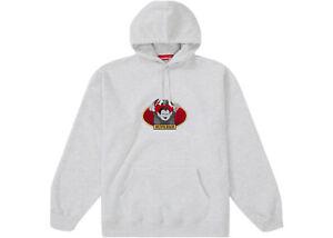 Supreme Ash Grey Vampire Boy Logo Hoodie Size L Brand New authentic