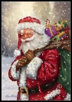 Santa Claus 50 - Chart Counted Cross Stitch Patterns Needlework DIY DMC Color