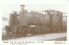 Railway Postcard - On The Vale of Rheidol Rly 13.9.1953 T. at Aberystwyth  2742