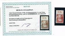 SBZ 214 b Oberrand, postfrisch, geprüft Mayer VP mit Fotobefund